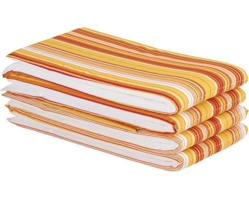 Sitzkissen-Set für Festzeltgarnitur orange-weiß gestreift