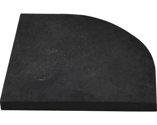 Granitplatte für Kreuzständer Siena Garden 55x49 cm, schwarz