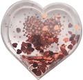 Schneekugel für eigenes Foto Herz 9,6x4,7x9,6 cm rot