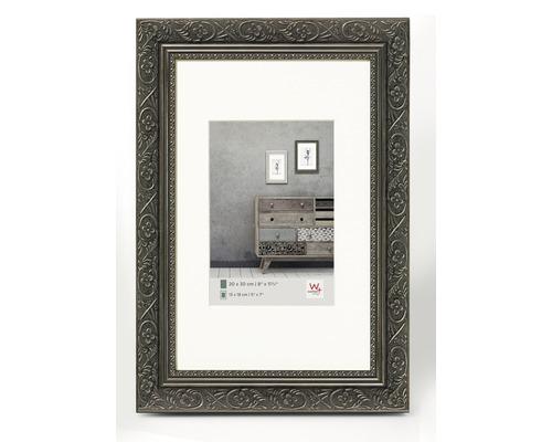 Bilderrahmen Holz Barock anthrazit 20x30 cm