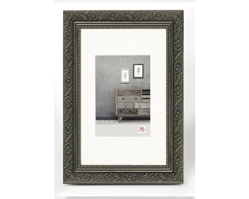 Bilderrahmen Holz Barock anthrazit 40x50 cm