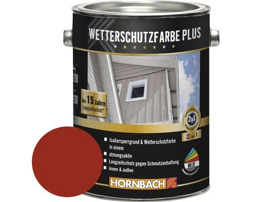 Holzfarbe Wetterschutzfarbe Plus schwedenrot 2,5 l