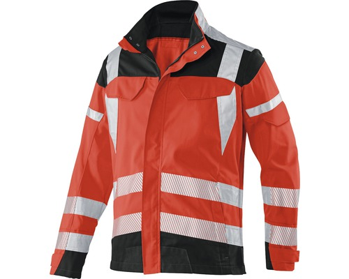 Warnjacke rot/anthrazit Gr. 56