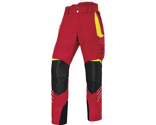Forstschutzhose rot/gelb Gr. M-82