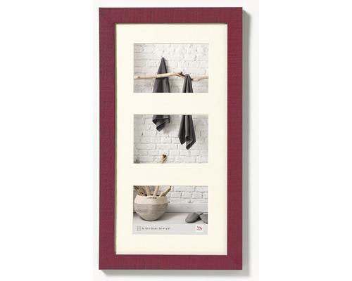 Galerierahmen Collage 3 Fotos rot 27,5x50,5 cm