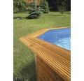 Massivholzpool-Set Weka rund Ø 500x116 cm inkl. Sandfilteranlage, Einbauskimmer, Aufstieg, Bodenschutzvlies & Sonnendeck Holz