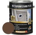 Holzfarbe Wetterschutzfarbe Plus braun 2,5 l