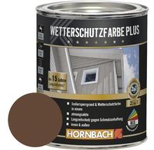 Holzfarbe Wetterschutzfarbe Plus braun 750 ml