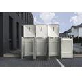 Mülltonnenbox HIDE Kunststoff 182x63,4x115,2 cm schwarz