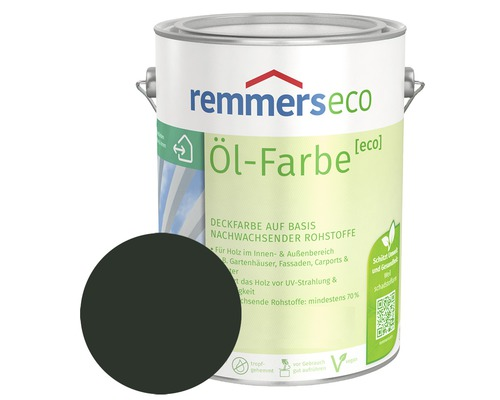 Remmers eco Öl-Farbe Holzfarbe RAL 6009 tannengrün 750 ml