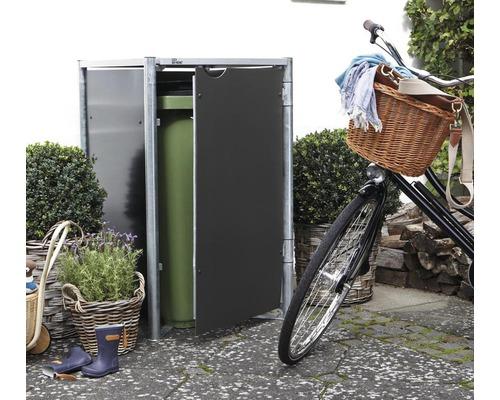 Mülltonnenbox HIDE Kunststoff 60,4x63,4x115,2 cm grau