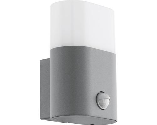 LED Sensor Außenwandleuchte 1x11W 1250 lm 3000 K warmweiß H 185 mm Favria silber/weiß