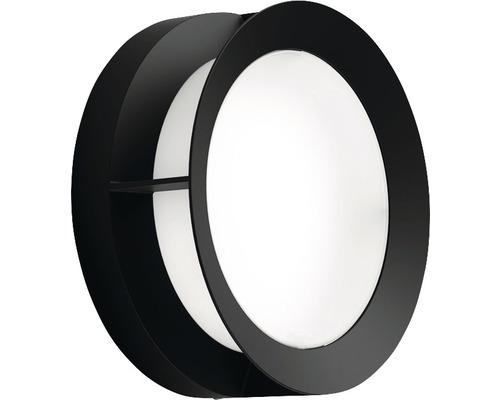 LED Außenwandleuchte IP44 12W 1200 lm 2700 K warmweiß Aceta schwarz/weiß Ø 189 mm
