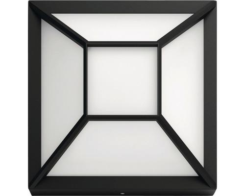 LED Außenwandleuchte 1x12W 1200 lm warmweiß 190x190 mm schwarz
