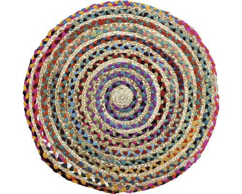 Naturteppich bunt Ø 70 cm