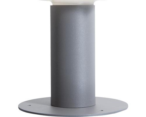 Bodenplatte Degardo für Lunocs silbergrau/metallic/matt Ø 250 mm