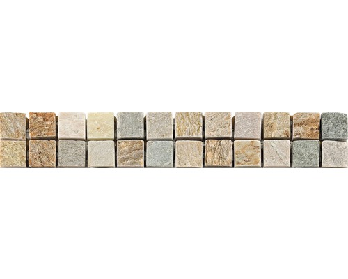 Natursteinbordüre grahit 4,9x30,5 cm
