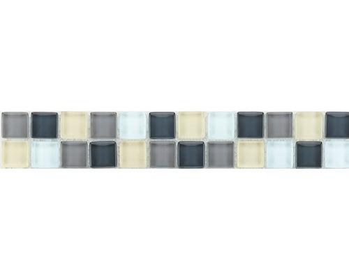 Glasbordüre silber 4,8x29,8 cm
