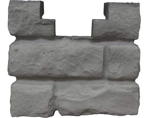 Pfostenkappe Mediterran Rockstone Anfangskappe 20x20x10cm