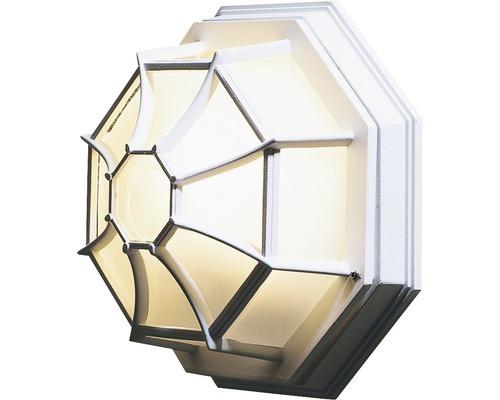 Außenwandleuchte 1-flammig 8-eck weiß 270x270 mm