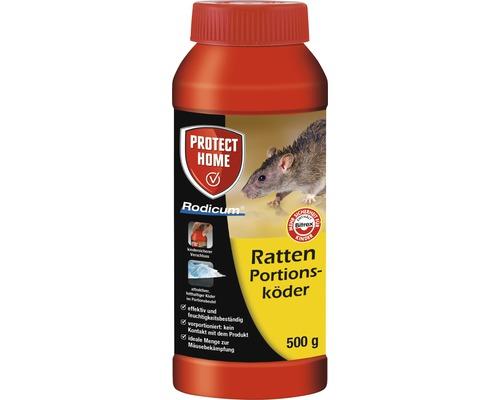 Rattenköder Portionsköder Protect Home Rodicum 500 g für Köderbox, Köderstation