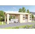 Gartenhaus Karibu She Shed Darling 3 mit Schleppdach und Fußboden 480 x 244 cm natur