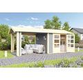 Gartenhaus Karibu She Shed Darling 3 mit Schleppdach und Fußboden 480 x 244 cm terragrau