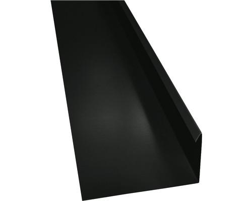 PRECIT Winkelblech mit Wasserfalz anthracite grey RAL 7016 1000 x 80 x 155 mm