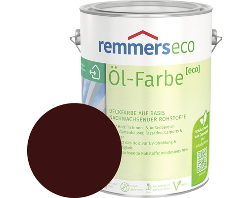 Remmers eco Öl-Farbe Holzfarbe rotbraun 750 ml