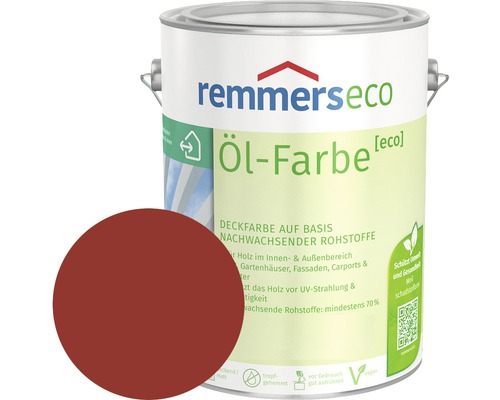 Remmers eco Öl-Farbe Holzfarbe skandinavischrot 750 ml