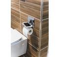 REIKA Toilettenpapierhalter Ovaro mit Ablage magnetisch verchromt ohne Montageplatte