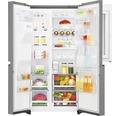 Side by Side Kühlschrank LG GSI961PZAZ BxHxT 91,2 x 179 x 73,8 cm Kühlteil 411 l Gefrierteil 214 l 431 kWh/Jahr edelstahl mit InstaView-Funktion: klopfen und reinschauen