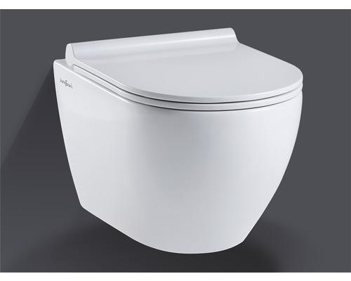 Jungborn Spülrandloses Wand-WC-Set Donella weiß mit WC-Sitz