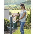 Wasserzapfsäule Premium mit Gießkannenablage und Schlauchhalter und Wasserhahn anthrazit