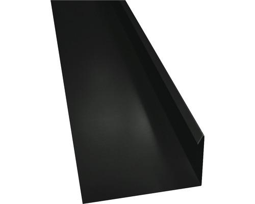 PRECIT Winkelblech mit Wasserfalz jet black RAL 9005 2000 x 80 x 155 mm