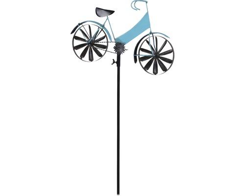 Windrad Lafiora Fahrrad Metall H 131 cm blau