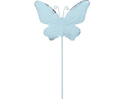 Dekostab Lafiora Metall Schmetterling H 30 cm blau