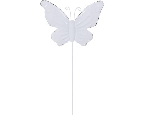 Dekostab Lafiora Metall Schmetterling H 30 cm weiß