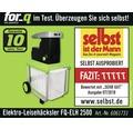 Elektro-Leisehäcksler for_q FQ-ELH 2500 inkl. Schieber