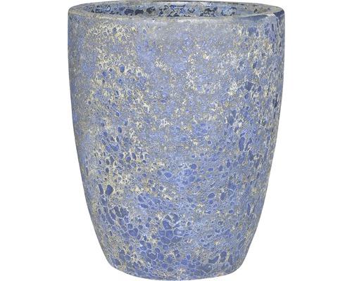 Pflanzvase Lafiora Autumn Terracotta Ø 45 cm H 55 cm blau