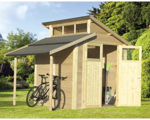 Gerätehaus Studio  Set 1 inklusive Dachverlängerung