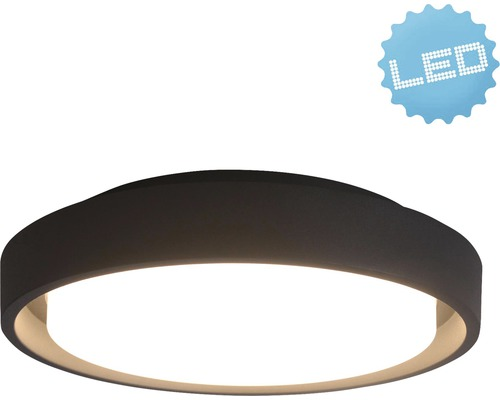 LED Außenwandleuchte IP54 25W 2250 lm 3000 K warmweiß Ø 270 mm weiß/anthrazit