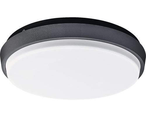 LED Außenwandleuchte IP54 9W 900 lm 3000 K warmweiß Ø 175 mm anthrazit/weiß