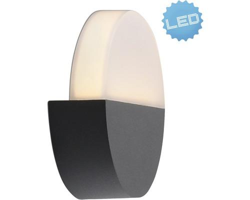 LED Außenwandleuchte IP54 6W 322 lm 3000 K warmweiß Ø 180 mm weiß/anthrazit