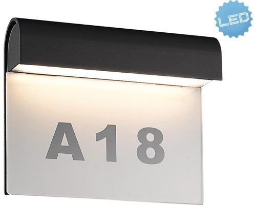 LED Außenwandleuchte IP54 6W 396 lm 3000 K warmweiß B 200 mm anthrazit
