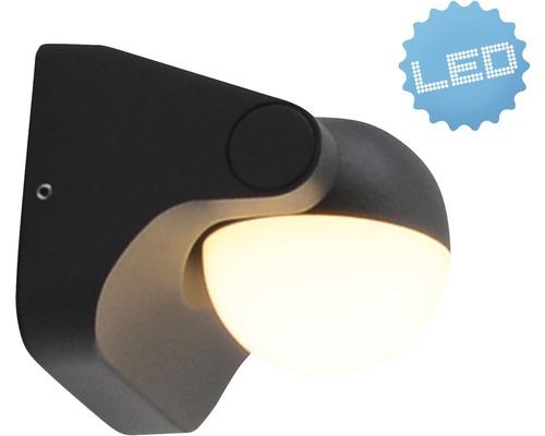 LED Außenwandleuchte IP54 6W 400 lm 3000 K warmweiß B 105 mm anthrazit
