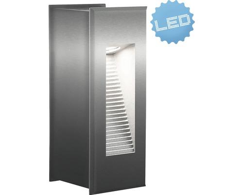 LED Außenwandleuchte IP65 1x3W 70 lm 5800 K tageslichtweiß H 171 mm silber