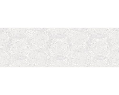 Steingut Dekorfliese Glamour 24 x 74 cm weiß