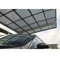 Einzelcarport KRB Skiatsu mit Hitze-, UV- und Hagelschutz 270x500 cm urban grau