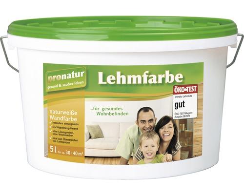 pronatur Lehmfarbe naturweiß 5 l